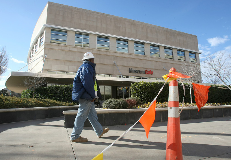Construction in front of the Museum Cafe Monday. PHOTO BY MAIKE SABOLICH
