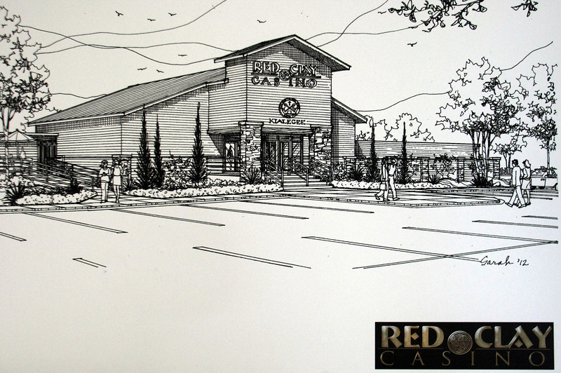 An elevation of the proposed Red Clay Casino in Broken Arrow.