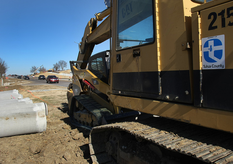 The equipment and materials needed for Tulsa County to help widen Yale Avenue between 61st Street and 71st Street. Tulsa County Commissioner Chairman John Smaligo said on Friday that his focus this year will be on a 5 percent cuts in the county budget. The spending cuts are due to increasing fixed costs such as health insurance and benefits.