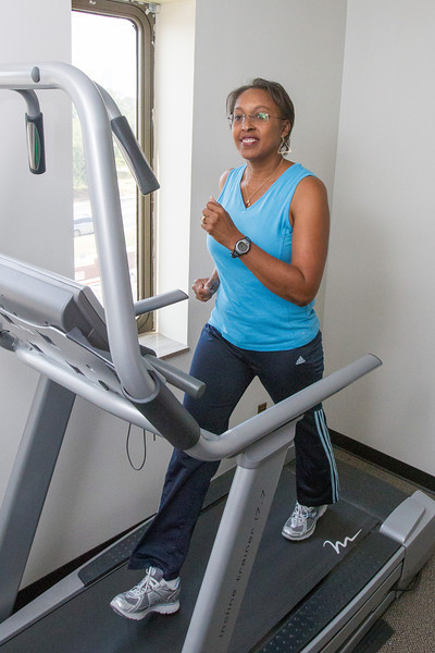 Marsh Jefferson is able to work out in the employee gym at the Oklahoma County Department of Health.