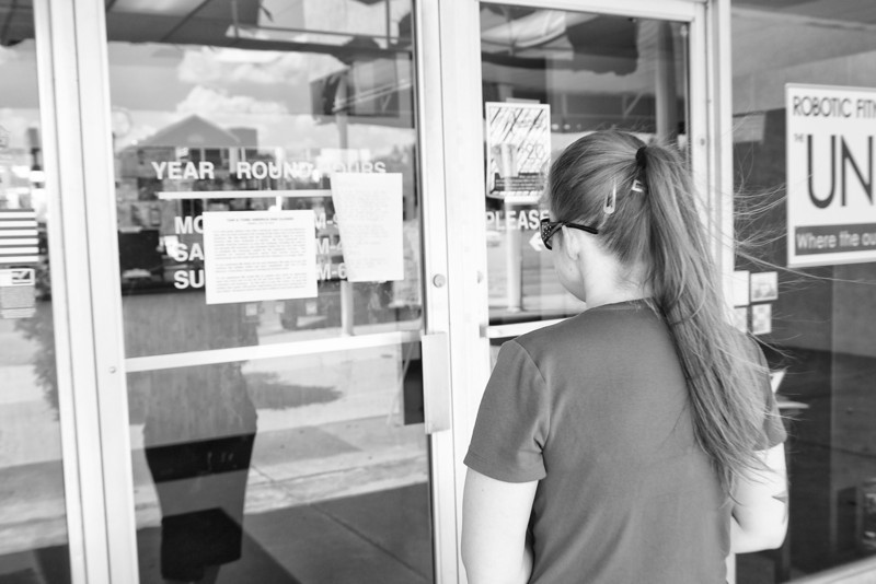 Kasey Shields arrives at Tan & Tone America to find the doors locked. She had just paid for her membership renewal last week.