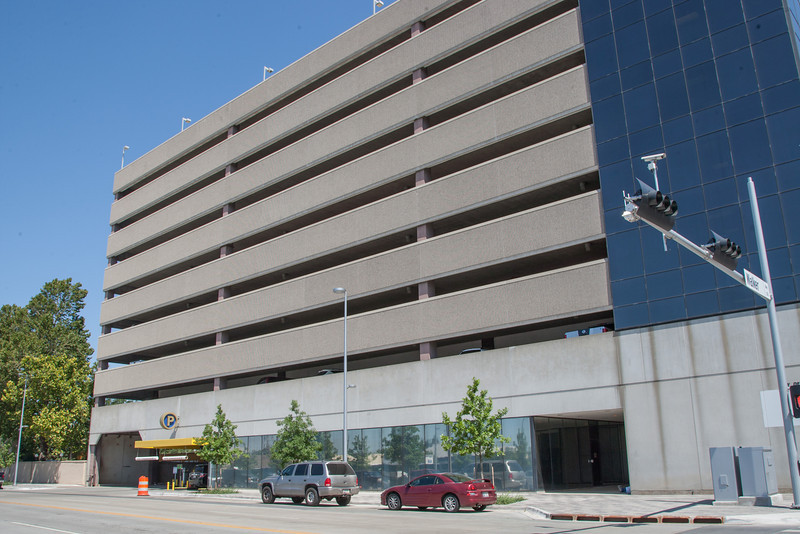 The parking garage at 501 W Sheridan.