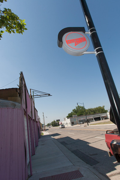 Hubcap Alley is located on Robison just south of the new I-40. The area is slated to be replace with a new park as part of Oklahoma City's Maps 3.