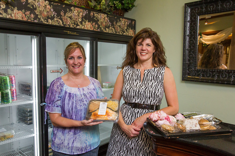Manager Robin Merrill and owner Regan Williams in the new cafe, Briar Rose. They are located on the first floor of the First National Building.
