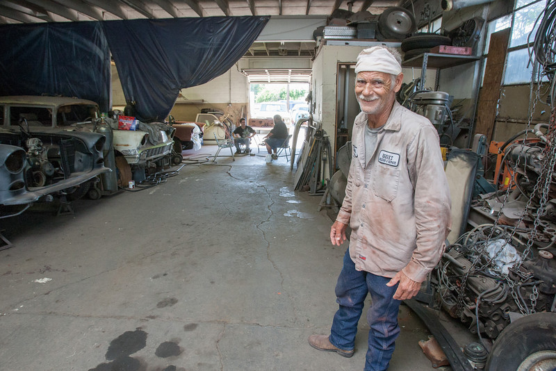 Jack Reeves is one of the garage owners in Hubcap Alley that may be forced out by Oklahoma City plans for a new park just south of I-40 on Robinson.