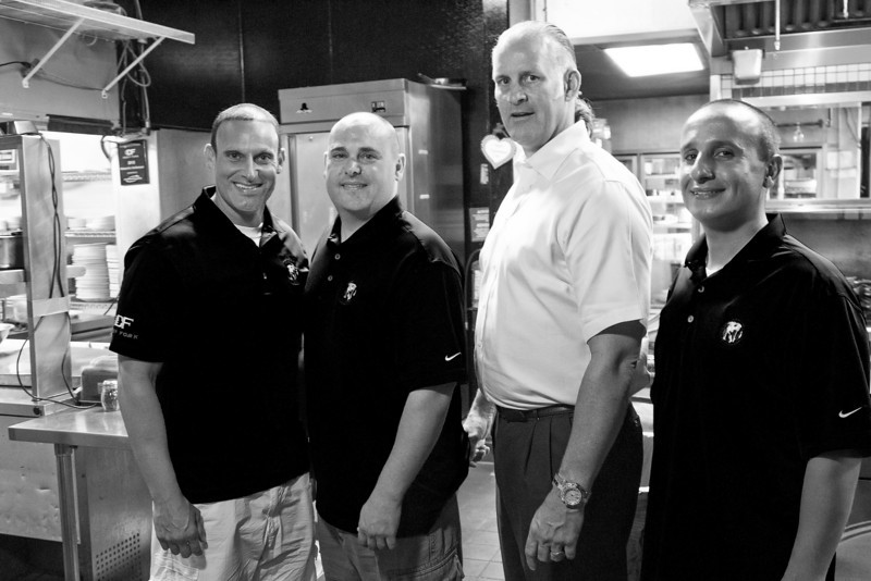 Deep Frork is one of the supports of the Needs Foundation who povide a way of getting un-served food to those who need a meal. From left to right David Abbo, Joey Abbo, Rod Meyer (owner of Deep Fork) and Ashur Oda.