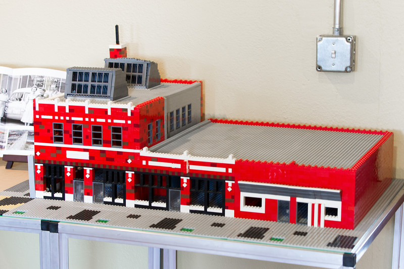 In the waiting room of VentureSpur sits a Lego model of the southwest corner of L