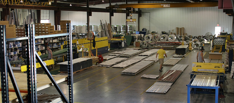 The Shop floor at Metal Panels Incorporated in Tulsa.
