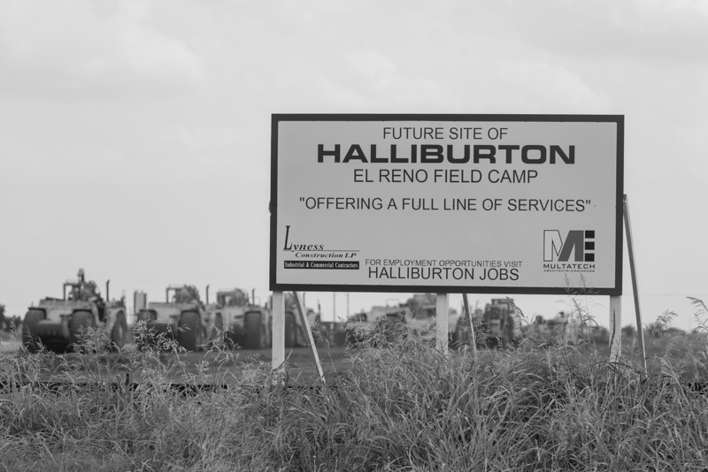 Haliburton has begun construction of a new facility at the corner of Highway 66 and Frisco Road just west of Yukon.
