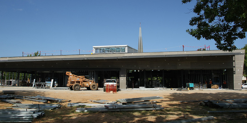 The East face of Oral Roberts University's Armand Hammer Student Center.