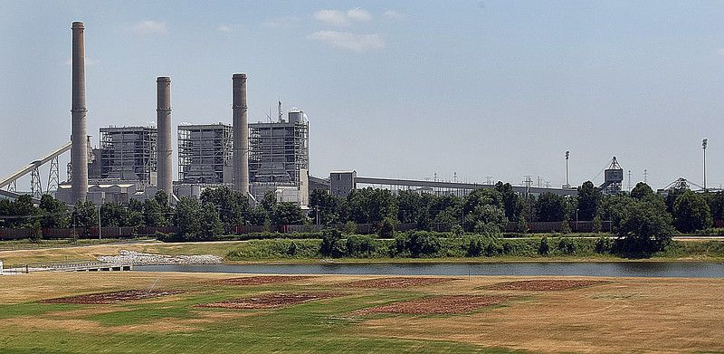 The OG&E Power plant in Muskogee.