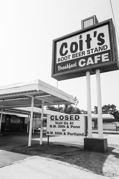 Coit's Root Beer Stand recently closed it's first location at 2500 S Western in Oklahoma City. Two Coit's location on north Penn and north Portland are still open.
