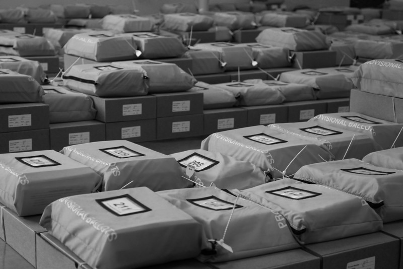 Hundreds of thousands of ballots at the Oklahoma County Election Board have been sorted and await delivery.