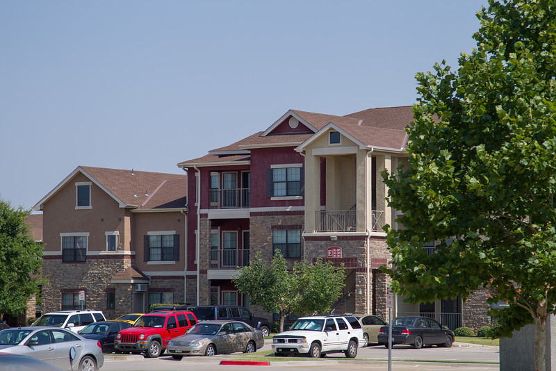 Crimson Park apartments are located at approximatly the northeast corner of Highway 77 and Highway 9 in Norman.