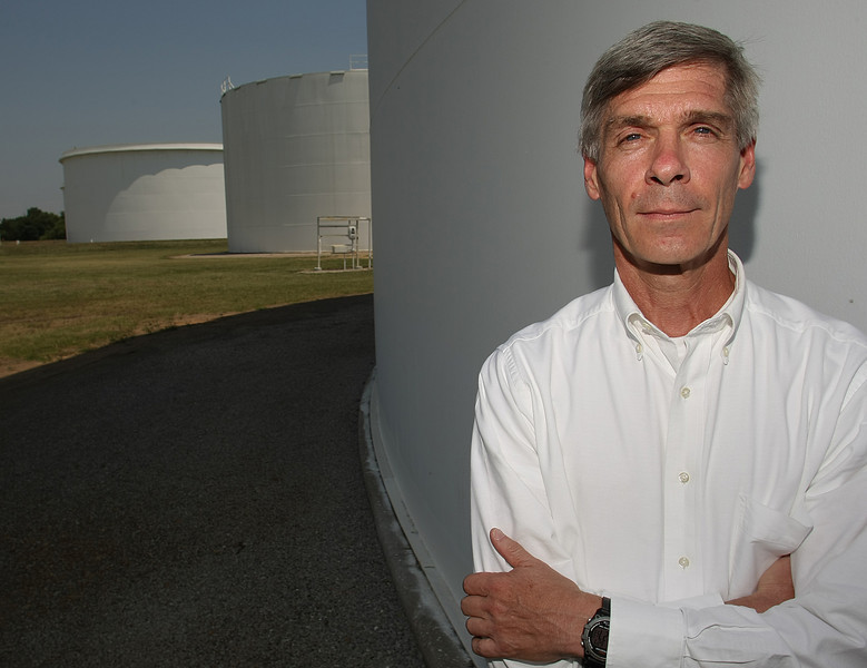 Davis Ysebaert, CEO of Explorer Pipeline, pauses for a photo at the companies storage facility in Glenpool.