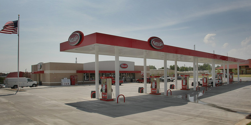 Land at the intersection of I-44 and Yale has been cleared to build the new style Kum & Go store.