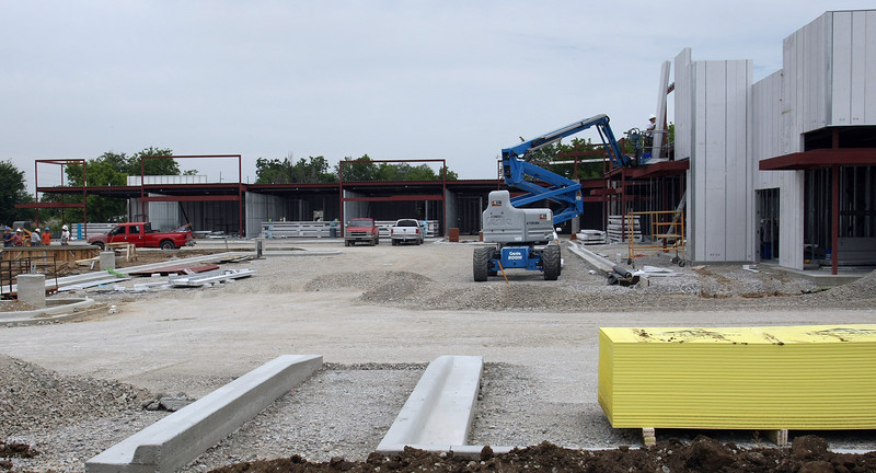 Construction continues on the Shoppes of Peoria in North Tulsa.