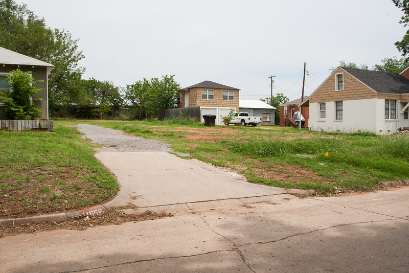 Chesapeak has been buying up propert on NW 56th and 57th street behind Classen Curve shopping center. Some homes have been torn down and remain empty lots while other lots have seen the construction of new homes.