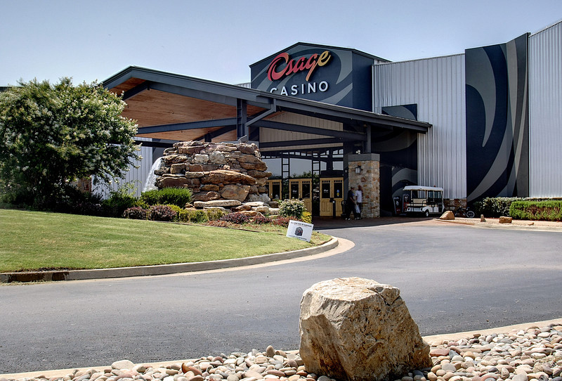 The main entrance of the Osage Casino in North Tulsa.