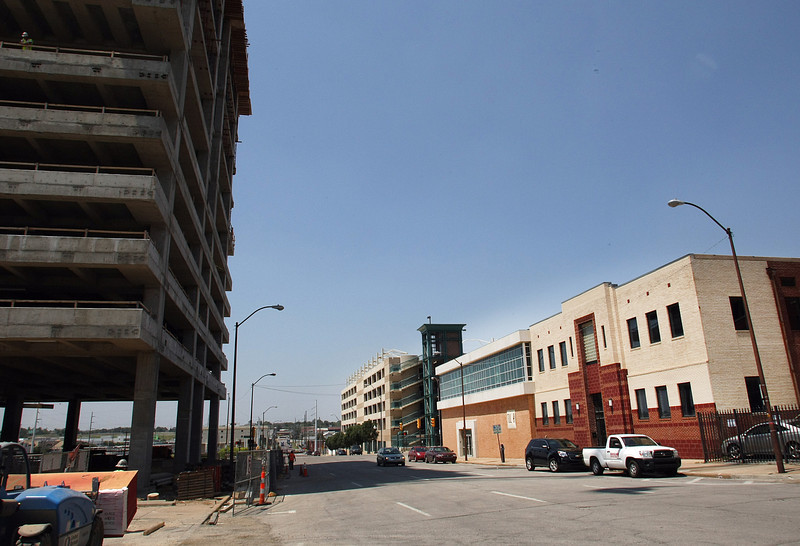The two empty downtown buildings at 201 and 211 S. Cheyenne, across the street from the 18-story One Place Tower, recently sold for $1 million to Placerita LLC of Tulsa.
