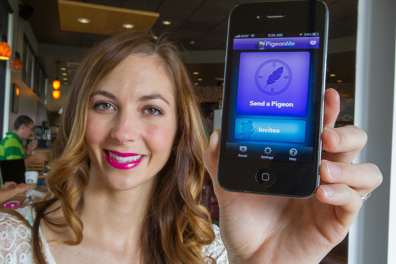 Devan Twyman is the CEO of PidgenMe, a company that has created an smart phone app that help users find eachother.