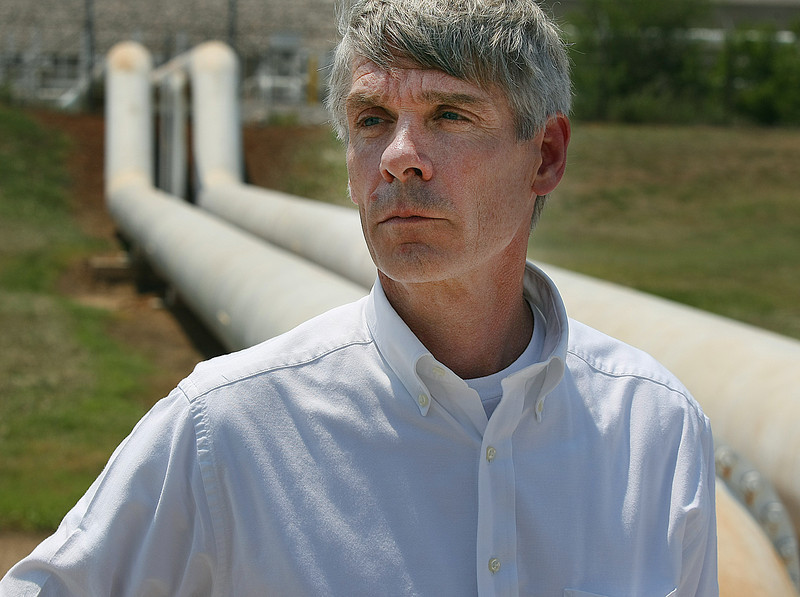 Davis Ysebaert, CEO of Explorer Pipeline, at the companies storage facility in Glenpool.