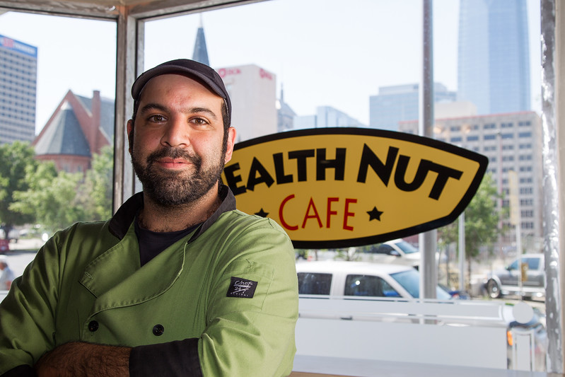 Amir Alavi owns Health Nut Cafe, located in Regency Tower Apartments in downtown Oklahoma City.