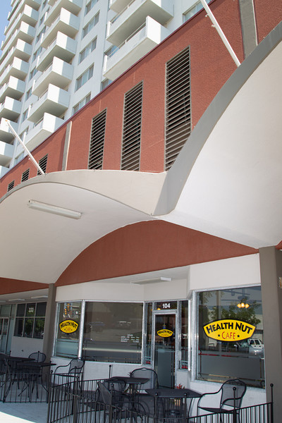 Health Nut Cafe is located in the first floor of Regency Tower Apartment in downtow Oklahoma City.
