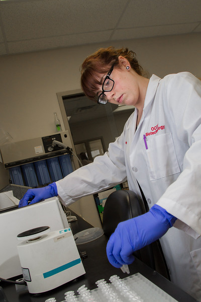 Lyndsey McNeil is an OCCC student working as an intern at DNA Solutions, part of Analutical Lab.