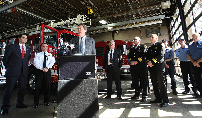 During a press conference Tulsa Mayor Dewey Bartlett announces a mutual aid agreement between The City of Broken Arrow and Tulsa.