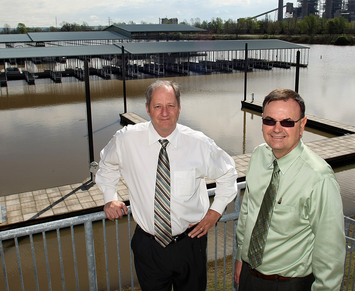 Director of the Port of Muskogee Scott Robinson and Brien Thorstenberg Director of Business & Economic Development<br /> Port of Muskogee pause for a photo.