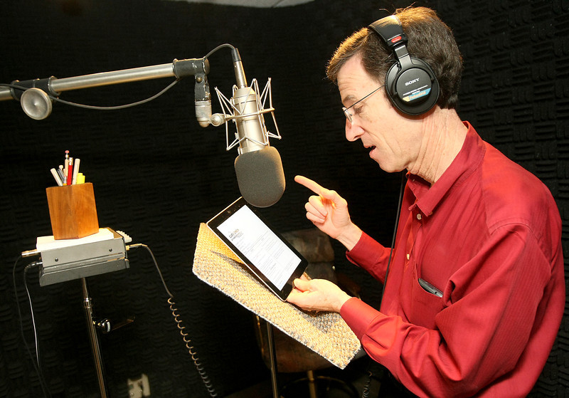 Gary Owen in Garman Productions' sound studio. PHOTO BY MAIKE SABOLICH
