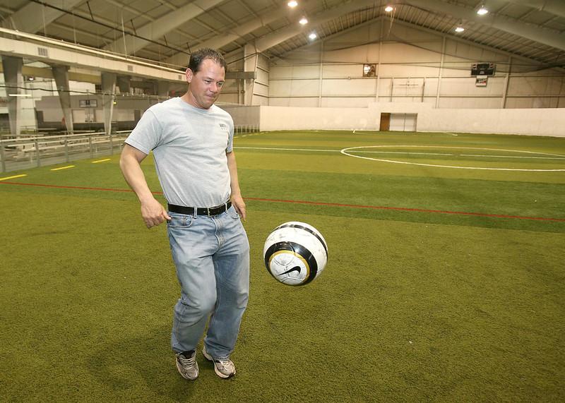 Matt Fancher with Soccer City Wednesday. PHOTO BY MAIKE SABOLICH