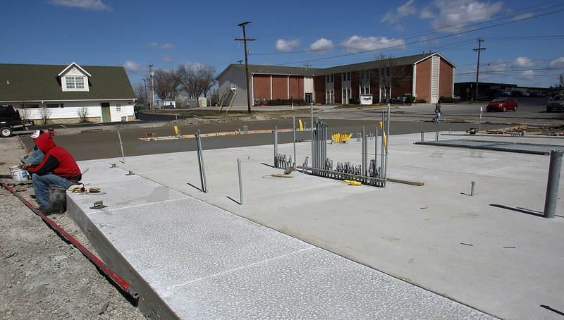 A CNG station under construction in Owasso.