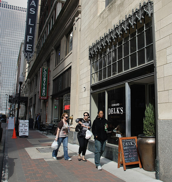 The Edward Delk Bar and Restaurant in downtown Tulsa.