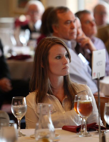 Audience members at the Oklahoma Independent Petroleum Association Wildcatter Wednesday Luncheon listen to David Adams, CEO of Samson Resources, give his presentation.