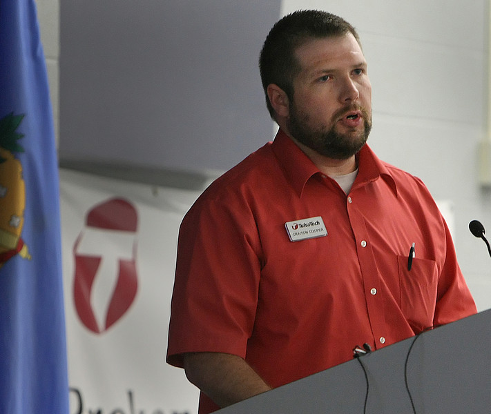 Craiton Cooper, Instructor of Alternative Fuels at Tulsa Technology Center speaksat the Tulsa Area and Central Oklahoma Clean Cities Coalitions Annual Joint Meeting.