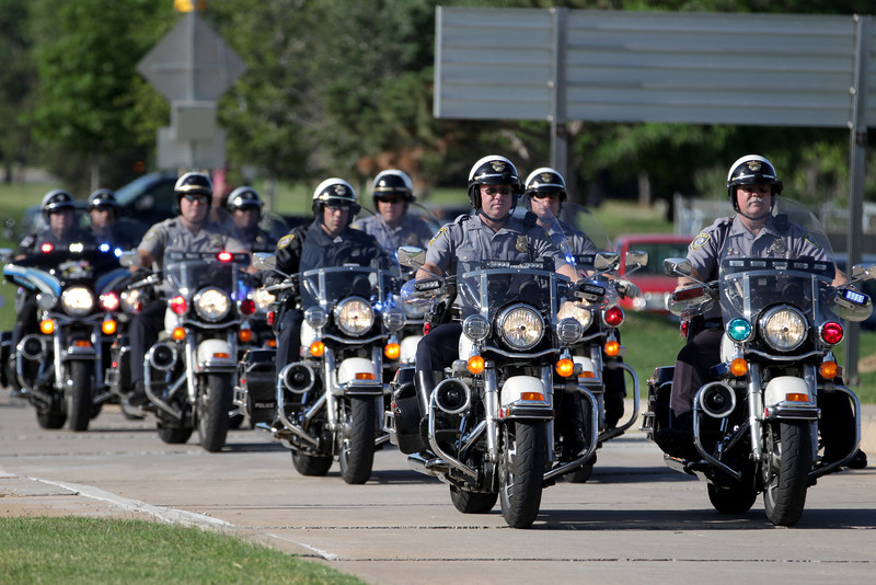 Pklahoma City Police, Oklahoma Highway Patrol and Oklahoma COunty Sherrifs department prived escort for the 2012 Tourch Run that kicks of the Special Olympics.