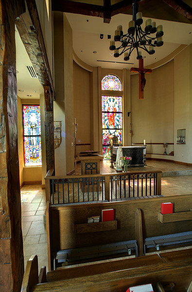The Sanctuary in the Catholic Charities building in North Tulsa.