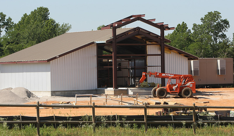 Construction on the Kialegee Tribal Town casino project in Broken Arrow.