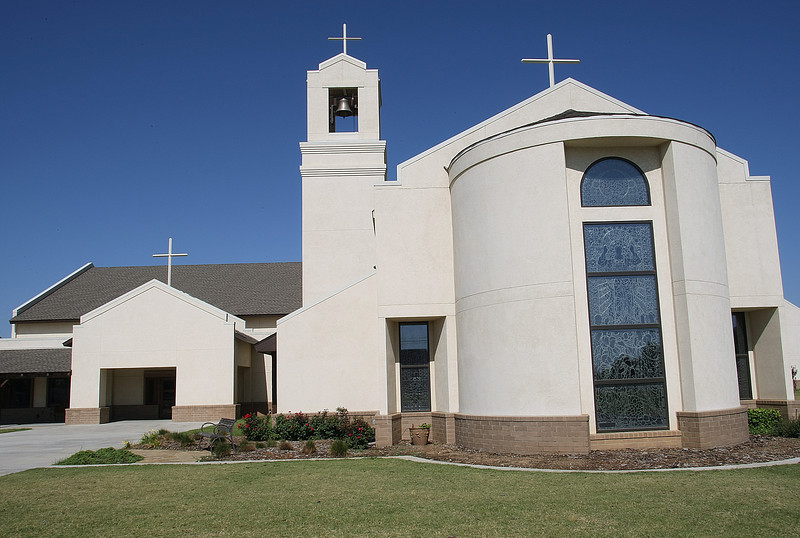 The Catholic Charities building in North Tulsa.