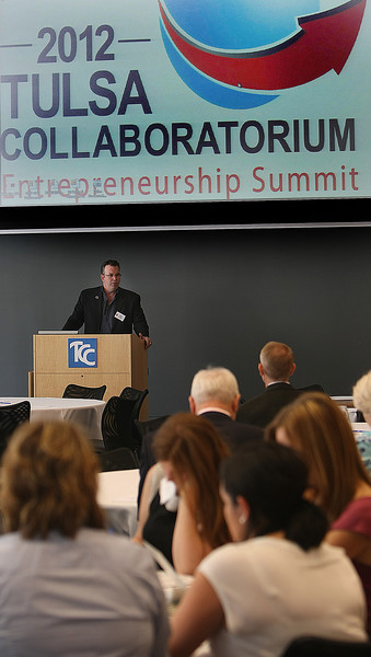 Sean Griffin, opens the 2012 Tulsa Collaboratorium Entrepreneurship Summit Thursday in Tulsa.