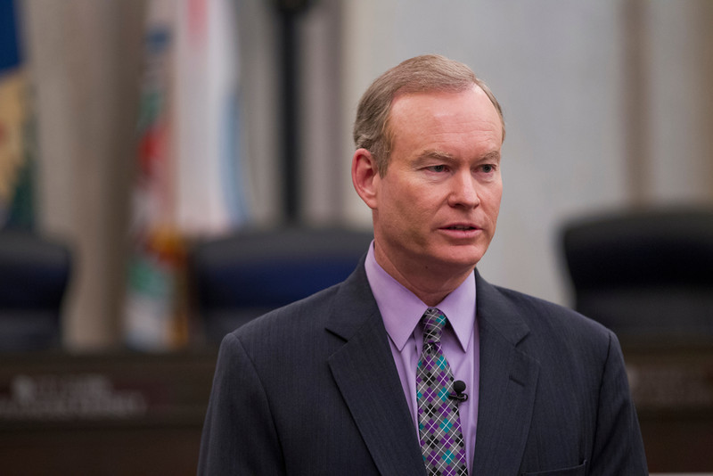 Mayor Mick Cornett answers questions immidiatly following the May 22nd cit council meeting.