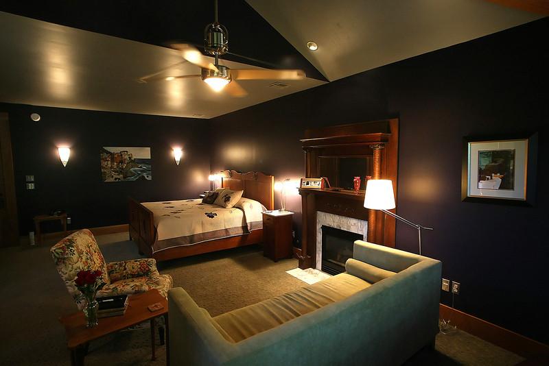 The honeymoon Suite of the Cedar Rack Bed and Breakfast in West Tulsa.