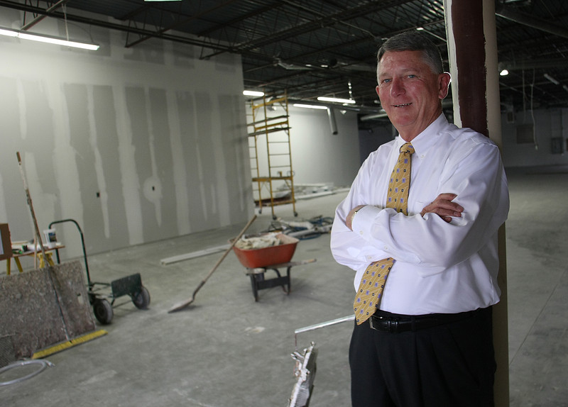 Donald Ozment, General Manager of Clampitt Paper, pauses for a photo at the future location of the companies Tulsa warehouse.