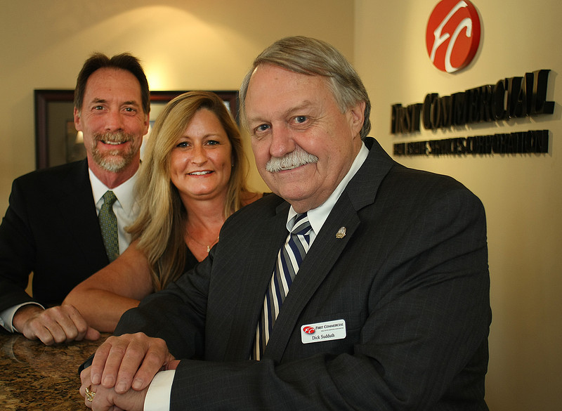 Mike Craddock, Melanie Richardson and Richard Sudduth of First Commercial Real Estate Services in Tulsa.