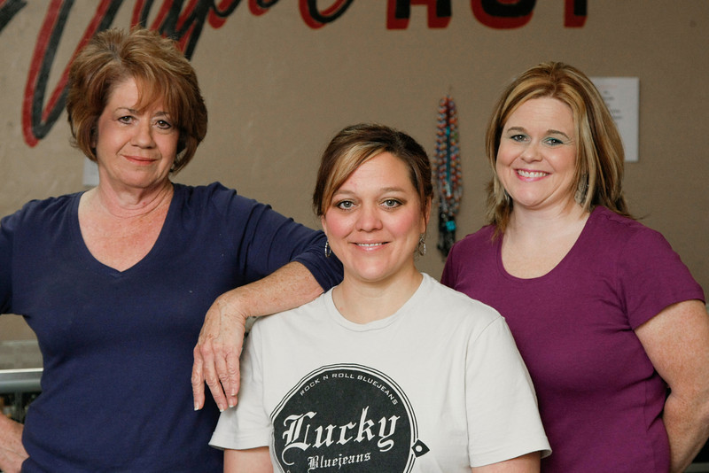 Owners of the Vapor Hut; Debbie Patton, Christi Watson and Melissa Bennett.