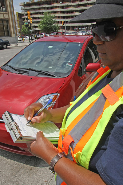 ****FILE ART**<br /> <br /> A vehicle in Tulsa gets a parking ticket.