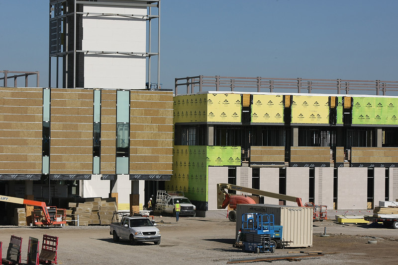 Construction continues on the Tulsa Cancer Institute in East Tulsa.<br /> <br /> Construction progresses on the Tulsa Cancer Institute in East Tulsa.