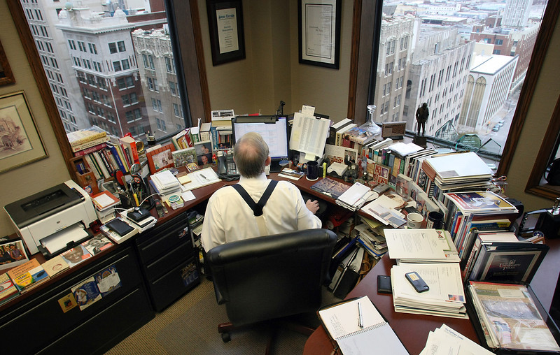 Steve Turnbo in his downtown Tulsa office.